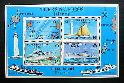 TURKS & CAICOS ISLANDS 1978 Passage M/Sheet SGMS493b with WMK BIN1767