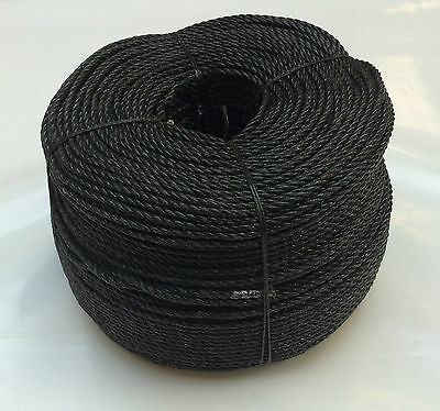 10mm Black Poly rope polypropylene coils -strong floats -agriculture sailing