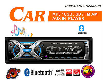Bluetooth Car Stereo / mp3 / wma playback Radio USB SD Card Ipod Aux in non cd