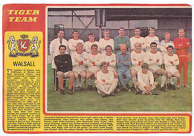 Walsall 1970-1971 Rare Orig Hand Signed Team Group By Colin Taylor & Frank Gregg