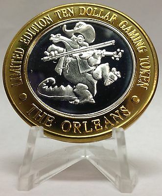 .999 Fine Silver Strike From The Orleans Casino Las Vegas Nv Alligator Fiddle
