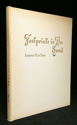 1972 Rare Fort Worth Published Poetry Footprints In the Sand Laurence Glen Elson