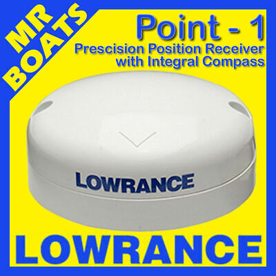 LOWRANCE ✱ POINT-1 ✱ Precision Position Receiver Antenna w/ Compass GPS Point 1