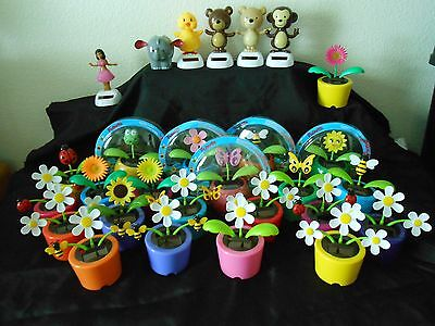 Solar Powered Dancing Flowers Bugs Animals Many to Choose From Mix & Match NIP