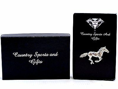 Horse Galloping Running Pony Pewter Lapel Hat Pin Badge  - Ideal Gift