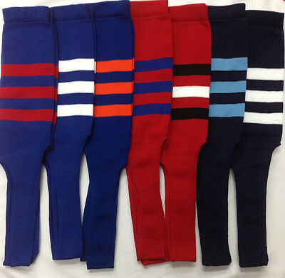 Baseball Stirrup Socks Royal Red Navy Blue with Stripes