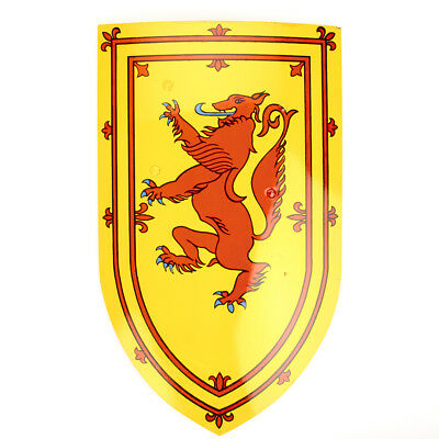 Wooden Battle Shield- The Scottish Red Rampant Lion of Braveheart