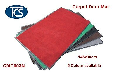 1480x900mm SYNTHETIC CARPET DOOR / ENTRANCE / FLOOR MAT Ribbed Rubber Back
