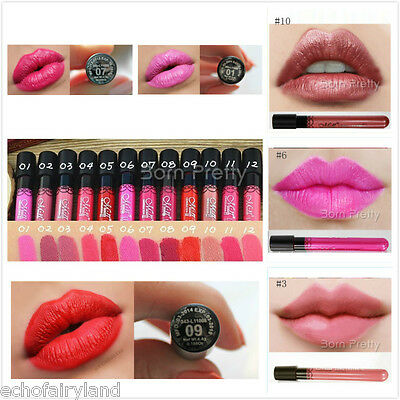 1Pc Waterproof Matte Velvet Long Lasting Makeup Cosmetic Lips Gloss Lipstick