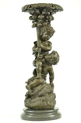 French Bronze Sculpture Group  Putti After Moreau Art Nouveau Deco Decor