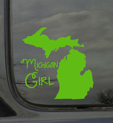 State Girl Sticker Vinyl Car Decal Approx. 6x6 NEW Made in USA
