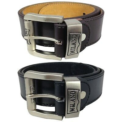 "Childrens 1.5"" Leather Belts Kids Belts Boys Belts By Milano In Black And Brown"