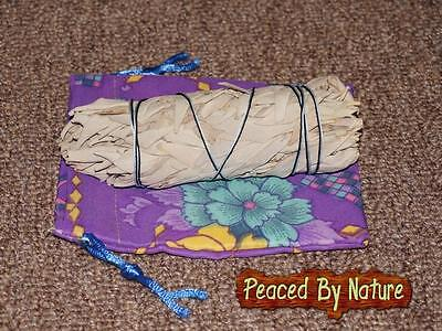 """California White Sage 5"""" Smudge Stick Bundle with Pouch Sacred Ritual Herb"""