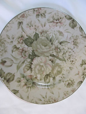 PTS International Interiors Antique Rose Stoneware Dinner Plate Replacment 10.5""
