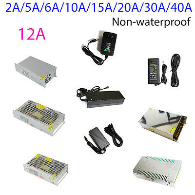 AC DC Power Supply Adapter Transformer 12V 2A 5A 10A 15A 30A for 5050 LED Strip