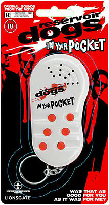 Reservoir Dogs Talking Keychain. Sound Machine Key Fob Noise Novelty SALE ITEM