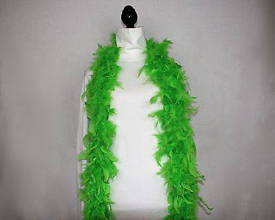 NEON GREEN Feather Boas - Chandelle - 6 Feet 60 grams; Best Price on eBay