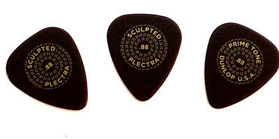 Dunlop Guitar Picks  3 Pack  Primetone Std Smooth  Hand Sculpted  .88mm