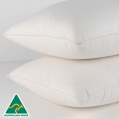 Aus Made HOTEL Quality TWIN PACK Standard Pillows/Polyester-BRAND NEW--45x72cm