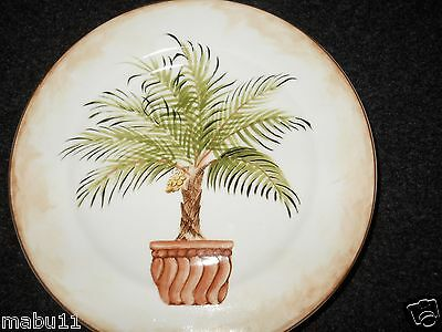 """American Atelier China Tropical Palm 8 1/4"""" Salad Plate Motif C"""