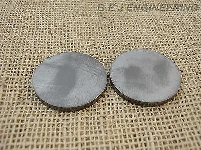 "Mild Steel Disc Circle 60mm dia x 5mm(3/16"") Pk of 2 - Laser Cut"