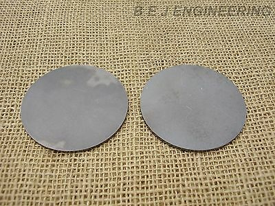 "Mild Steel Disc Circle 75mm(3"") dia x 3mm(1/8"") Pk of 2 - Laser Cut"