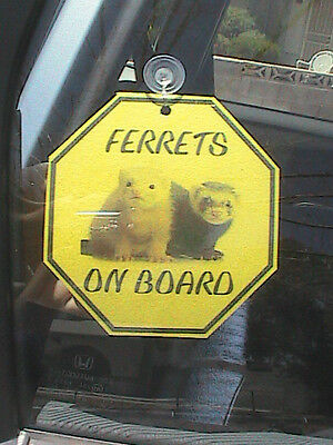 Ferrets On Board Octagonal Sign
