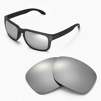 New Walleva Titanium Replacement Lenses For Oakley Holbrook Sunglasses