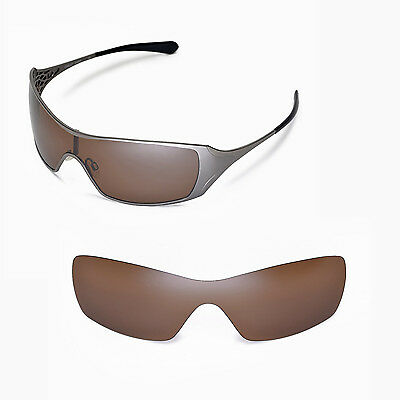 New Walleva Polarized Brown Replacement Lenses For Oakley Dart Sunglasses