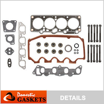 91-96 Ford Escort Mercury Tracer 1.9L SOHC Head Gasket Head Bolts Set VIN J