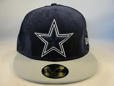 outlet store 93129 3a6a7 NFL Dallas Cowboys New Era 59FIFTY Fitted Hat Cap Team Cord Navy Gray