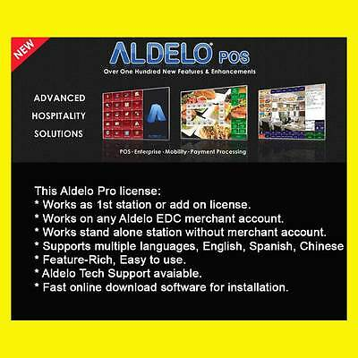 ALDELO PRO POS Software with merchant acc - Simple rate plan: 2.5% + $0.1