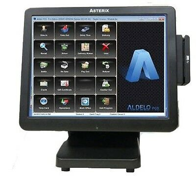 ALDELO Pro Restaurant POS,  All in one touch PC, Table, Inventory, Staff Bank