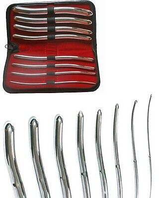 German Brand Hegar Uterine Dilator Sounds Set Surgical Instruments