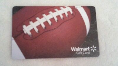 NEW Unused Walmart Football Gift Card COLLECTIBLE NO VALUE 2014 Super Bowl