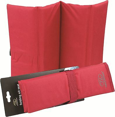 Highlander 3 Fold Sit Mat - Red- New Padded Seating mat for Hiking & Camping