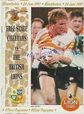 BRITISH & IRISH LIONS v ORANGE FREE STATE 1997 RUGBY PROGRAMME