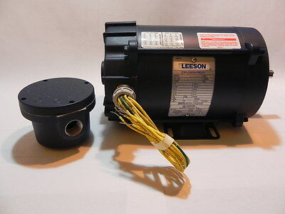 Leeson 114627 AC 3 Phase Explosion Proof Motor 1/2 hp 3450&2850 RPM 56 EPNV .5
