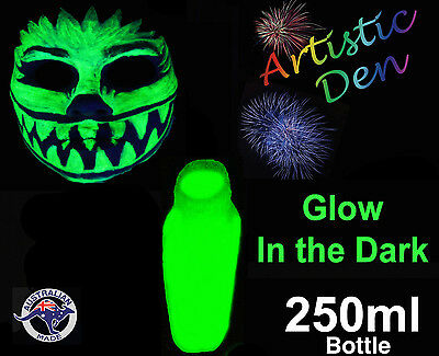 UV Neon Glow in The Dark Face Paint 250ml  Glow Paint Halloween Party Paint