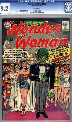 Wonder Woman #155 CGC 9.2 I married a Monster!