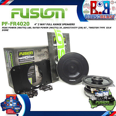 "Fusion Performance Pf-Fr4020 4"" 180W Car Audio 2 Way Coaxial Coax Speaker System"