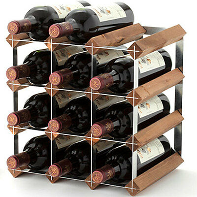 Traditional Wine Rack Company 228mm Depth 12 Bottle Self Assemble Kit TWC12KT