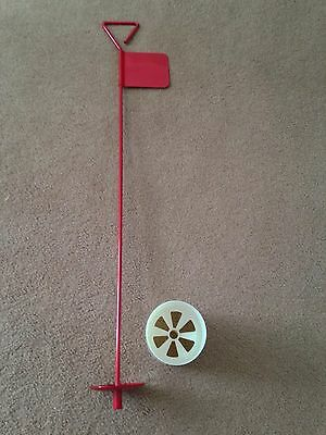 9 x Metal Professional JL Golf Putting Green Flag and Hole Cup 90cm