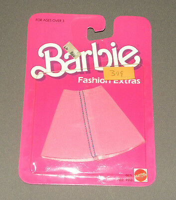 Vintage 1984 Barbie Fashion Extras Doll Outfit Clothes Pink Suede Skirt NEW