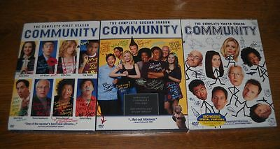 Community Seasons 1, 2 & 3 (DVD, 11-Disc Set) BRAND NEW SEALED FREE SHIPPING!!!
