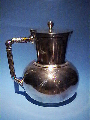 Aesthetic Christopher Dresser Lidded Jug Circa 1865 Elkintong & Co Silver Plated
