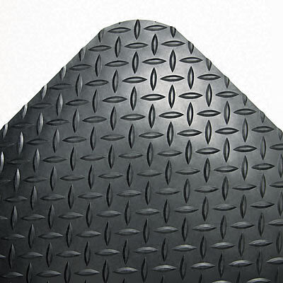 Industrial Deck Plate Black Antifatigue Mat (36 in. x 144 in.)