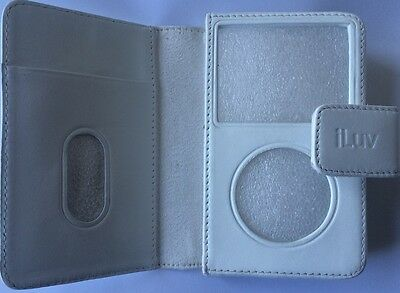 iLuv i106B Genuine Leather Case White for iPod with Video 30Gb/60Gb/80Gb
