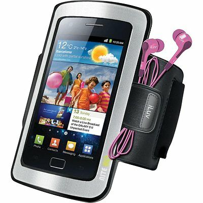 iLuv iSS223BLK Sport Armband Case for iPhone and Smartphone