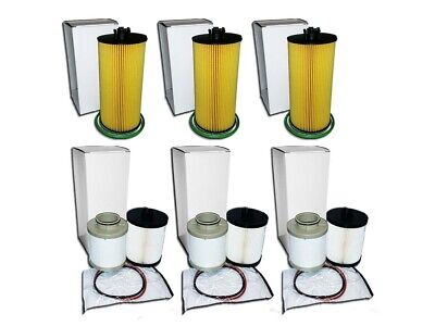 3 Oil Filters & 3 Fuel Filter Sets For Ford 6.4L Turbo Diesel - Replaces Fd4609